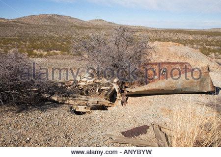 Unguarded Abandoned Mine Shaft Danger - Stock Photo