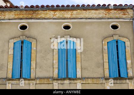 Window shutters Labastide d Armagnac France - Stock Photo