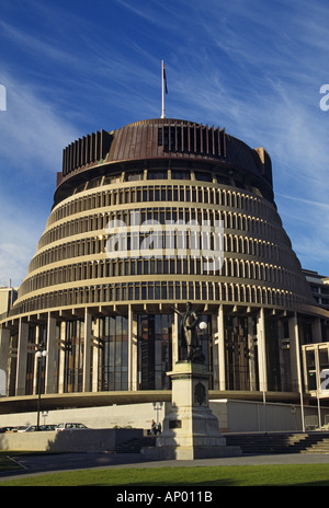 New Zealand Wellington The Beehive Parliament House - Stock Photo