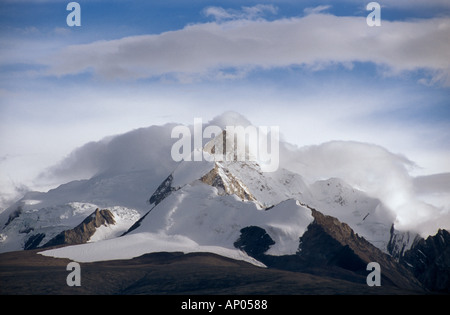 HIMALAYAN PEAKS Southern route to MOUNT KAILASH TIBET - Stock Photo