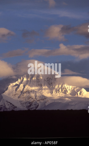 SHISHA PANGMA the only 8 000 meter HIMALAYAN PEAK completely inside TIBET Southern route to MOUNT KAILASH - Stock Photo