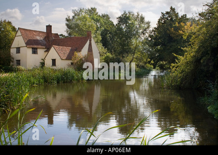 Willy Lotts Cottage, Flatford Mill, Suffolk - Stock Photo