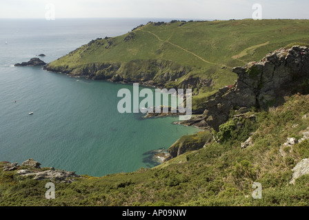 Looking across Starehole Bay towards Bolt Head, near Salcombe on the south coast of Devon - Stock Photo
