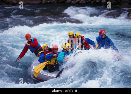 Rafting, Otta River, Western Middle Norway - Stock Photo