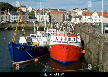 Pittenweem harbour Scottish Scot Scotland  fishing fish boat Nooke of Fife Scotland town UK United Kingdom England - Stock Photo