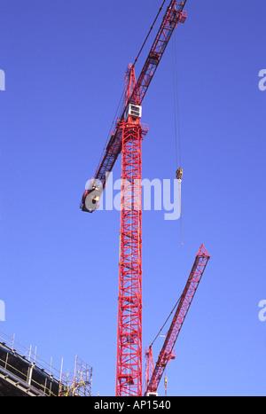 Tower cranes, construction site, St. Katharines, London, UK - Stock Photo