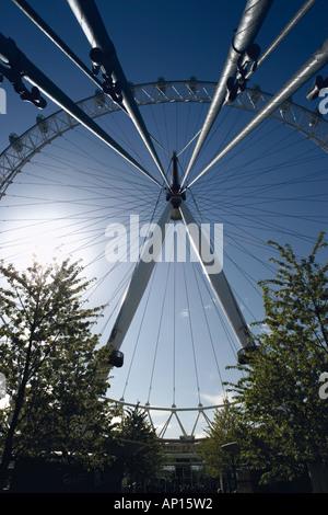 The Millennium Wheel London Eye London UK - Stock Photo