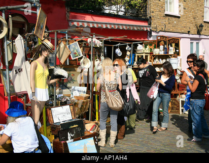 Portobello Road Market in London - Stock Photo