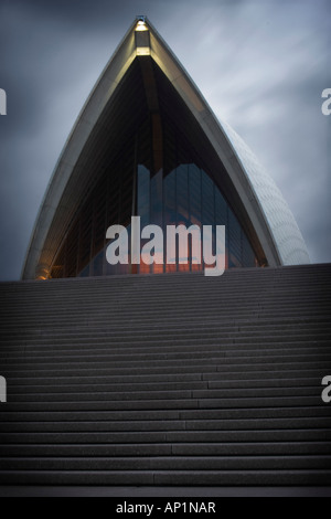 Detail of Sydney Opera House situated on Bennelong Point in Sydney Harbour. - Stock Photo
