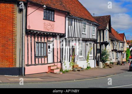 View main street, Lavenham, Suffolk, UK - Stock Photo