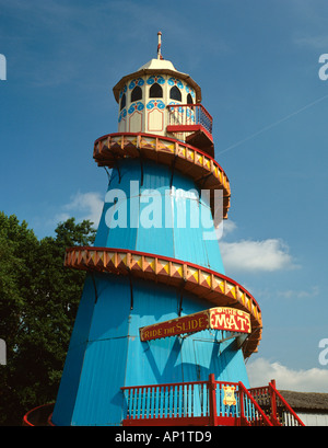 Cheshire Northwich Pickmere Lake Old Helter Skelter - Stock Photo