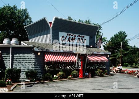 Clam Box Seafood Restaurant, established 1935, Ipswich, Essex County, Massachusetts, New England, USA - Stock Photo