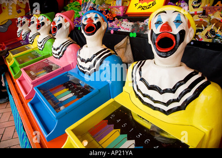Laughing Clowns Side show Rotorua Bay of Plenty North Island New Zealand - Stock Photo
