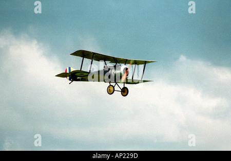 Bi plane at middle wallop aerodrome - Stock Photo