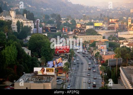 Sunset Strip, Hollywood, Los Angeles, California, USA - Stock Photo