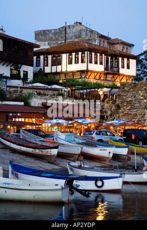 southern harbour, Town museum Nesebar, Black Sea, Bulgaria - Stock Photo