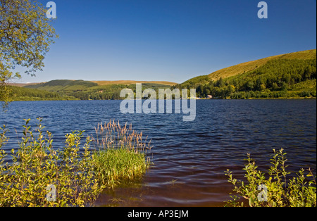Pontsticill Reservoir, Brecon Beacons National Park, Powys/Merthyr Tydfil border, South Wales, UK - Stock Photo