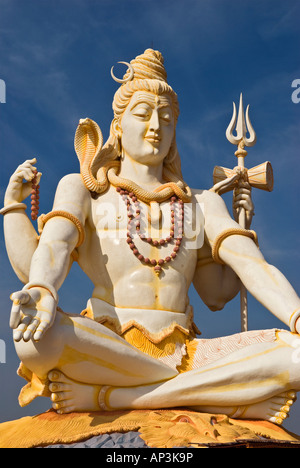 Shiva statue Bijapur Karnataka India - Stock Photo