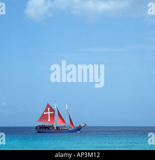 Jolly Roger Excursion Boat, Barbados, West Indies, Caribbean - Stock Photo