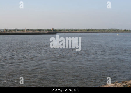 View from the sluice on Eider River - Stock Photo