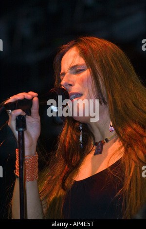Grace Slick and Paul Kantner s daughter CHINA WING KANTNER sings with the JEFFERSON STARSHIP  MONTEREY POP FESTIVAL - Stock Photo
