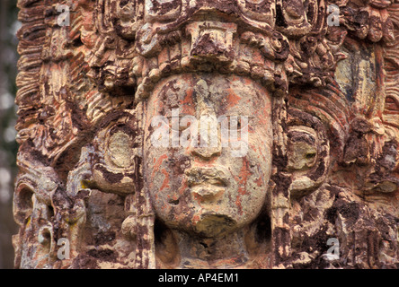 Honduras, Copan, Stela H. - Stock Photo
