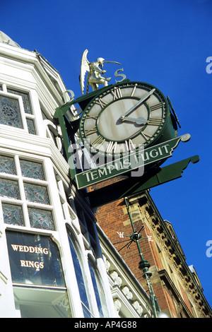 Large clock, Leeds, Yorkshire, England, UK - Stock Photo