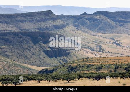 Mountains of the Tarahumara Sierra in Chihuahua State, Mexico. - Stock Photo