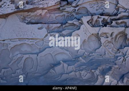 Siltstone rock formation, Edeline Island, Kimberley, Western Australia - Stock Photo