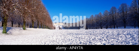 stormont, snow, prince of wales avenue, Belfast, Northern Ireland - Stock Photo