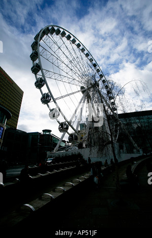 Ferris Wheel, Exchange Square, Manchester UK - Stock Photo