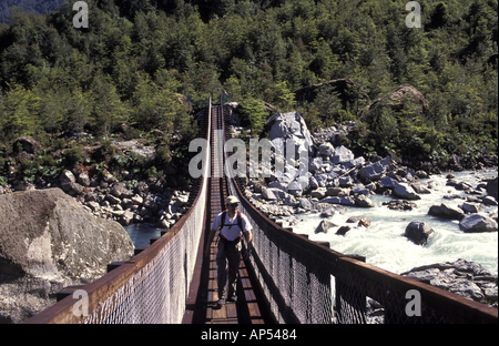 Chile Patagonia Queulat National Park - Stock Photo