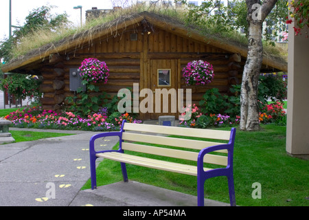 N.A., USA, Alaska.  Visitor Center in downtown Anchorage. - Stock Photo