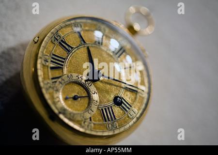 macro of a pocket watch - Stock Photo