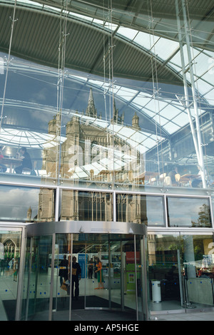 Entrance To The Forum With Reflections Of St Peter Mancroft Church Norwich Norfolk UK