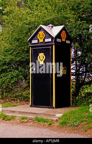 THE AA BOX AT BRANCASTER. NORTH NORFOLK. UK - Stock Photo