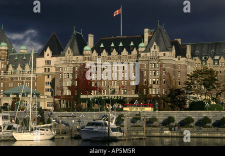 The Empress hotel in Victoria on Vancouver Island. British Colombia, Canada - Stock Photo
