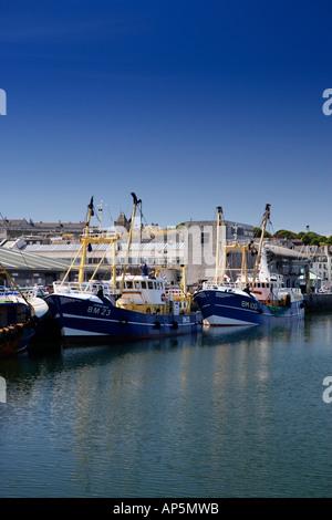 Fishing Trawlers Plymouth Docks Devon UK - Stock Photo