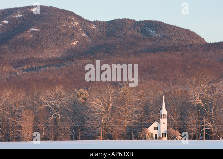 The Wonalancet Union Chapel in Wonalancet, New Hampshire. White Mountains. - Stock Photo