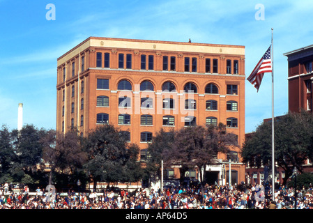 Texas School Book Depository in Dallas Texas the assassination of US President John F Kennedy - Stock Photo