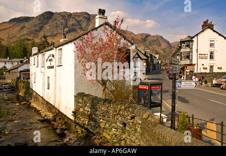 Coniston High Street, Coniston & Yewdale Fells Behind, Lake District, Cumbria, England, UK - Stock Photo