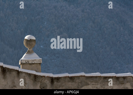 Architectural feature of Rennaissance castle - Stock Photo