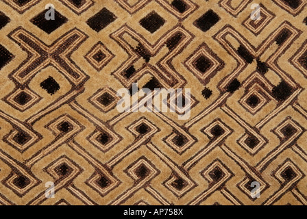 Woven raffia textile from The Democratic Republic of Congo formerly known as Zaire From the Kuba tribe - Stock Photo
