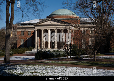 Wilson Library of the University of North Carolina in Chapel Hill UNC in the Winter - Stock Photo