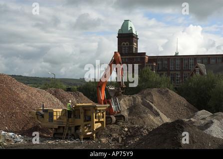 Brown Field site Blackburn - Stock Photo