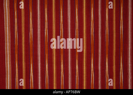 Detail of an ikat patterned Ulos cloth from the Batak region of Sumatra - Stock Photo
