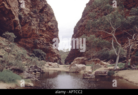 Simpsons Gap West MacDonnell National Park Northern Territory Australia - Stock Photo