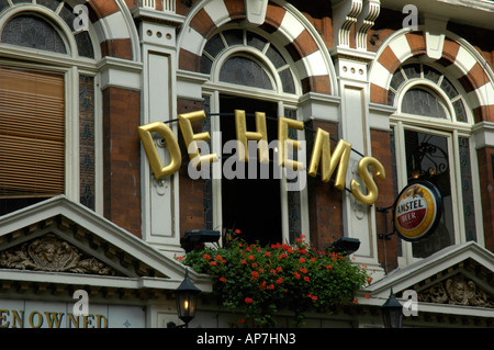 De Hems Dutch bar in Macclesfield Street Soho London UK - Stock Photo