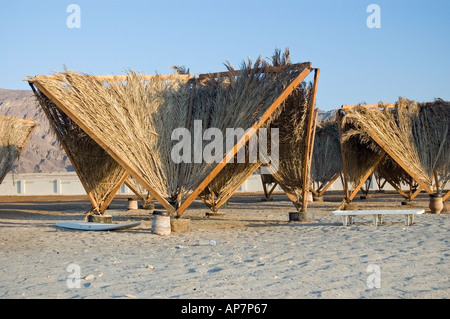 Cheap and affordable accomodation on the beach between Nuweiba and Taba, Gulf of Aqaba, Red Sea. DSC 4784 - Stock Photo