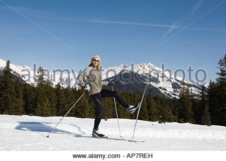 Woman on skis - Stock Photo